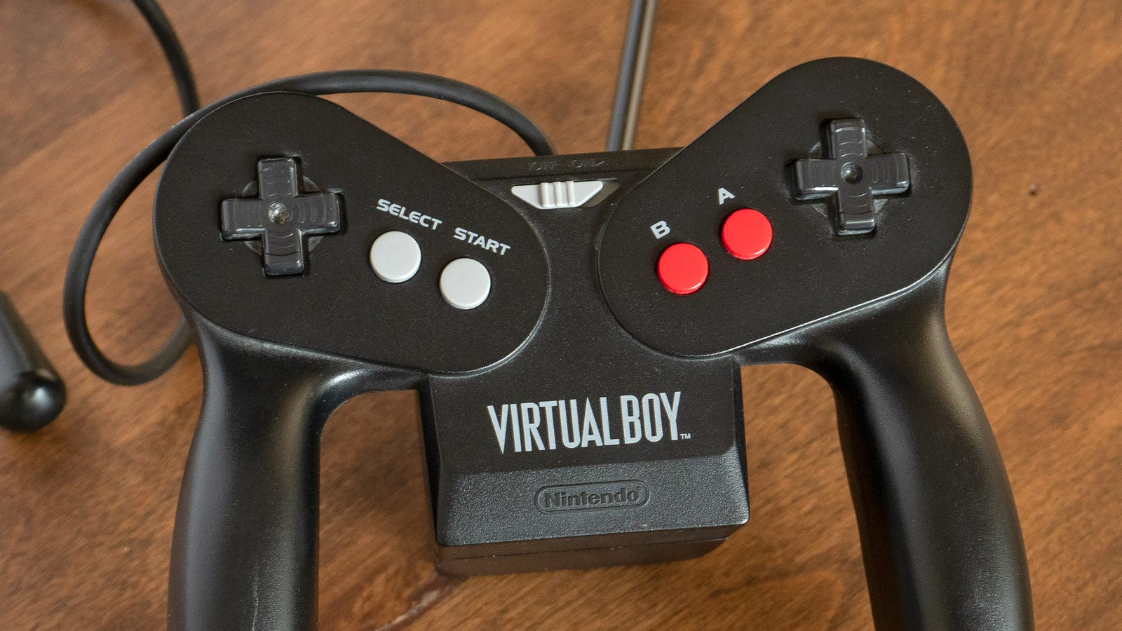 The Virtual Boy's controller also housed the six AA batteries it ran on, adding unnecessary weight.