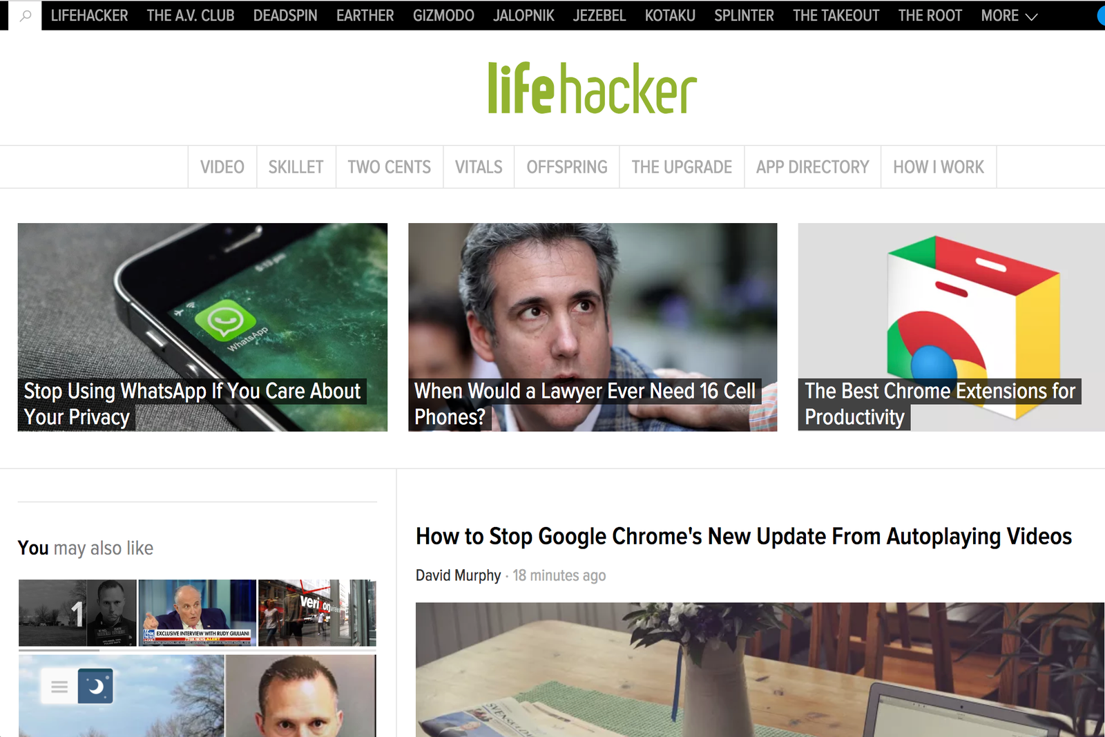 Lifehacker, Night Mode off