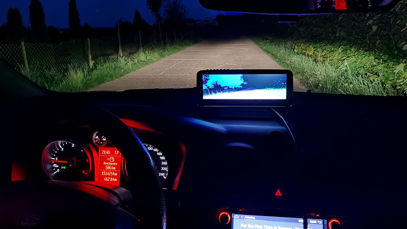 The Lanmodo Night Vision system literally turns night into day.