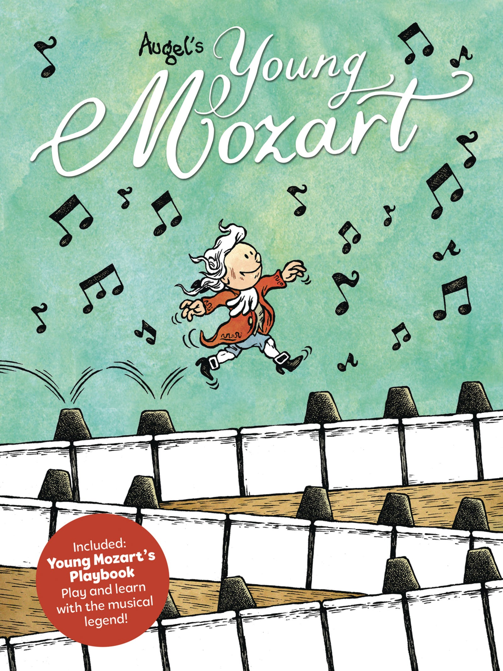 Illustration for article titled emYoung Mozart/em composes kid-friendly comic strips around a musical icon