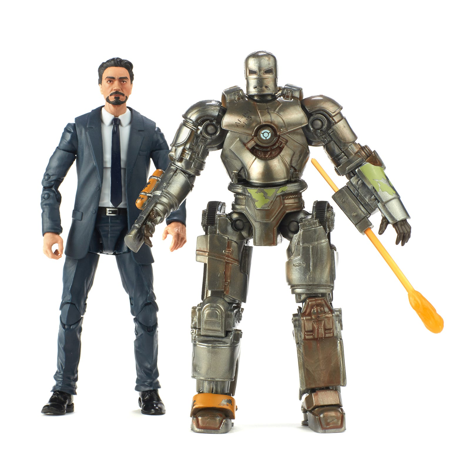 Iron Man: Tony Stark and Iron Man MK I Two-Pack.