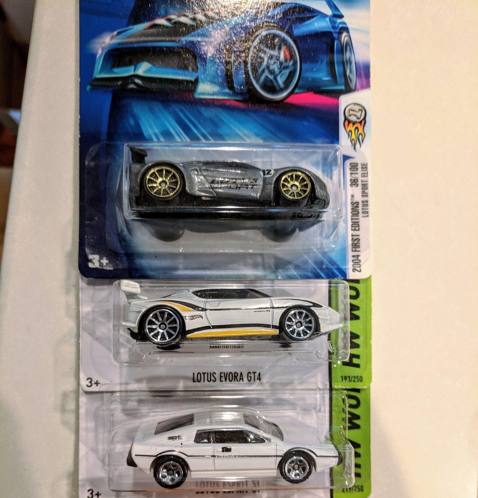 Lotus Elise, Evora GT4, and S1 Esprit