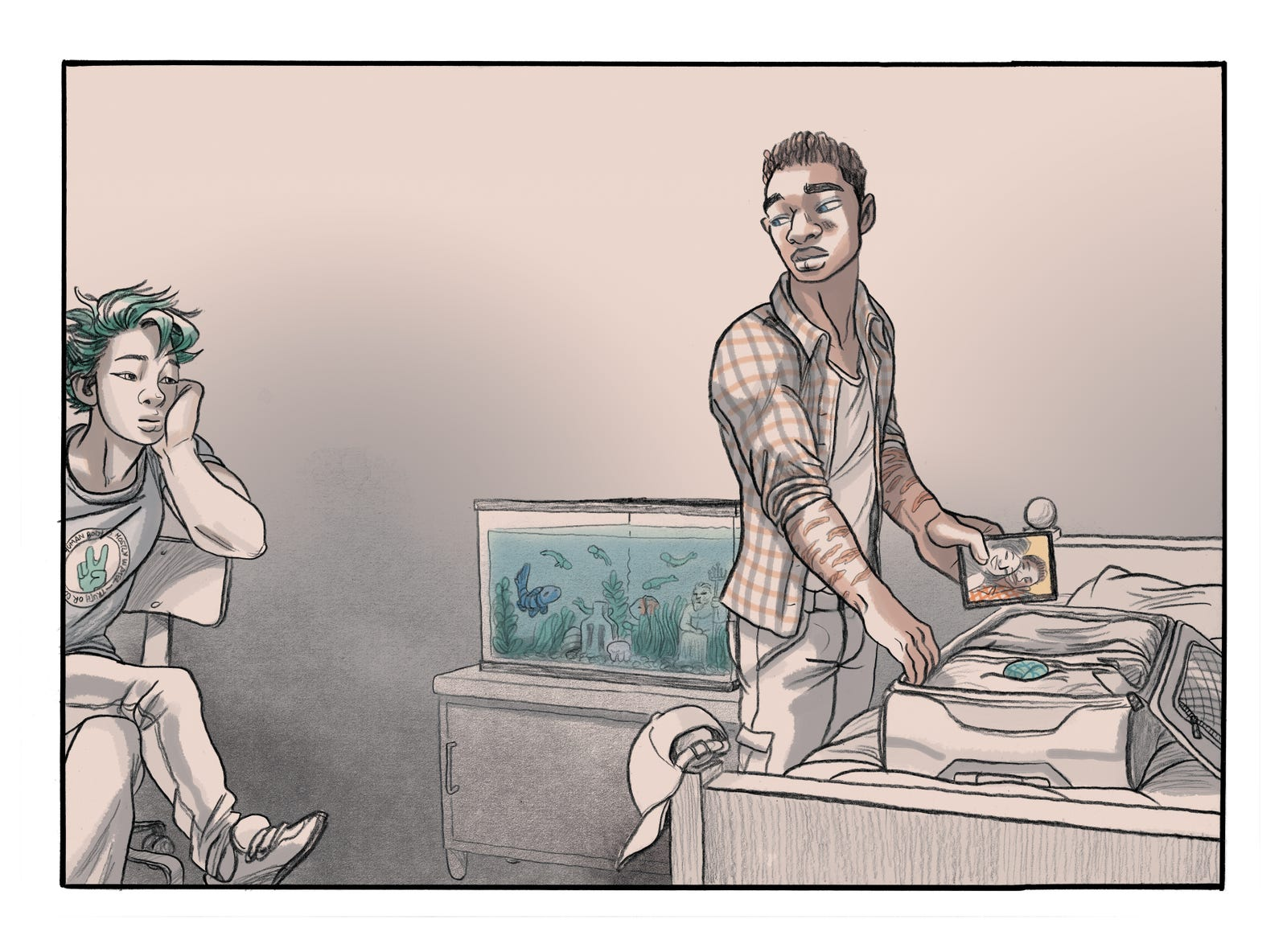 Illustration for article titled Aqualad discovers his first love in this emYou Brought Me The Ocean/em exclusive