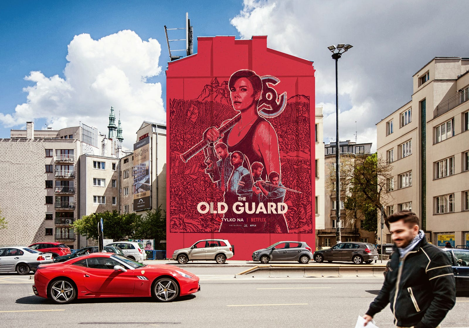 The mural in Warsaw