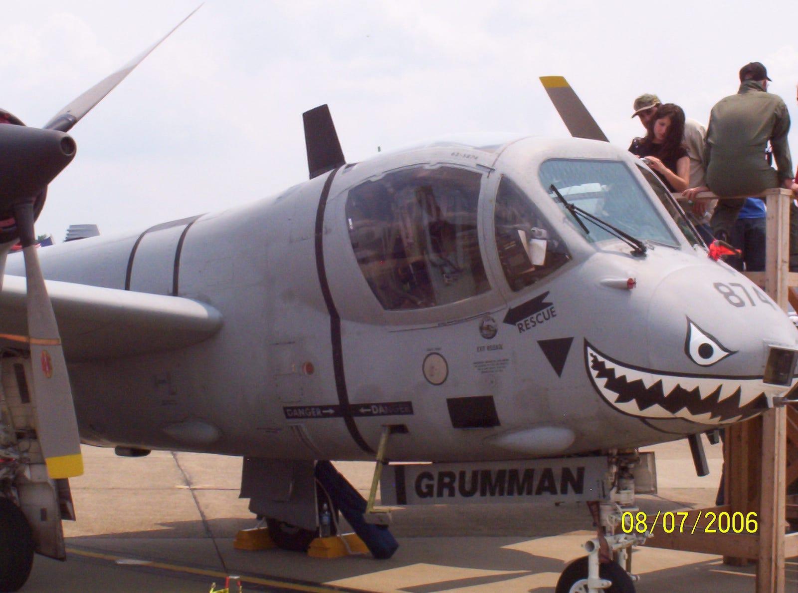 Grumman OV-1D, back for another visit.