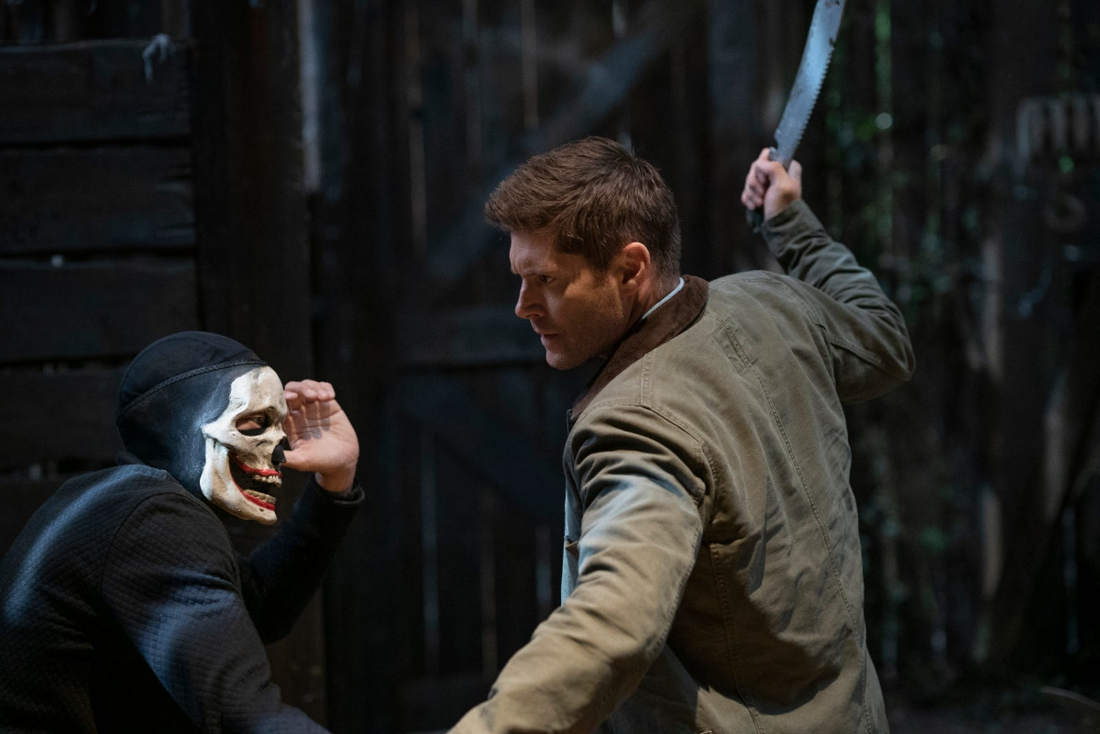 Not sure who the skull guy is but Dean's sure fighting him a bunch.