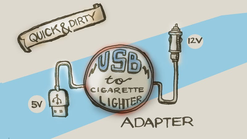 [SCHEMATICS_4ER]  How To Make A Quick And Dirty Emergency USB-To-Cigarette Lighter Socket | Device For Car Cigarette Lighter Wiring Diagram |  | Jalopnik