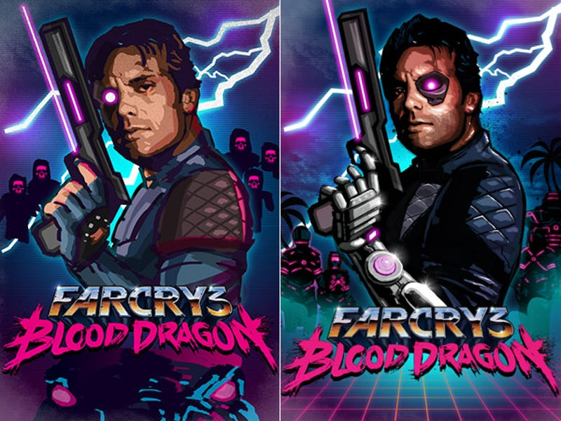 The Man Behind Blood Dragon S 80s Drenched Box Art