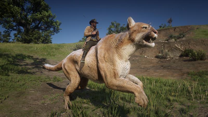 这个红色死亡救赎II模块可以让你骑一个巨大的美洲狮