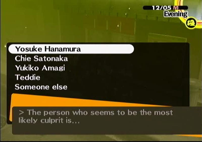 Spoilers Finding The Villain In Persona 4 Using Deduction