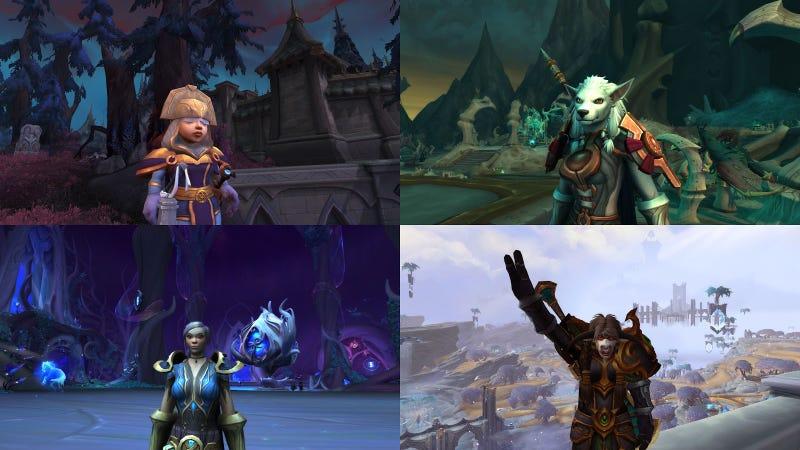 我在玩四个Alt来获得魔兽世界:暗影之地的所有战利品
