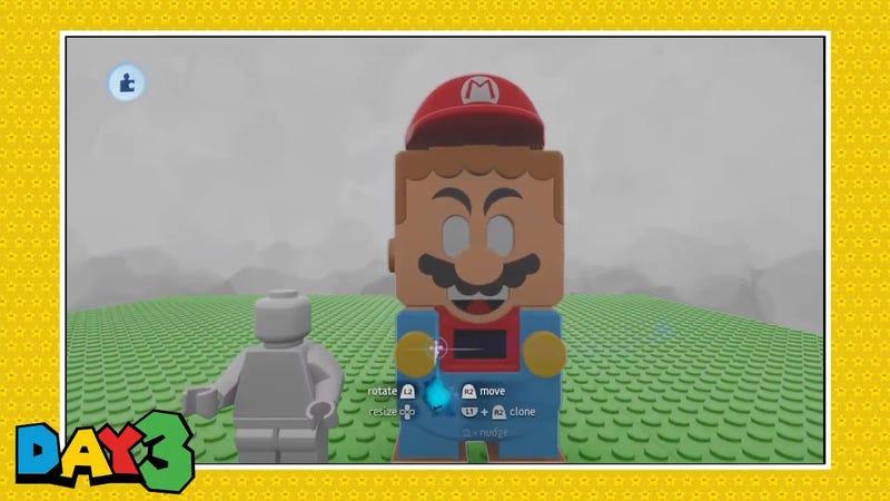 乐高超级马里奥在梦中拥有自己的电子游戏