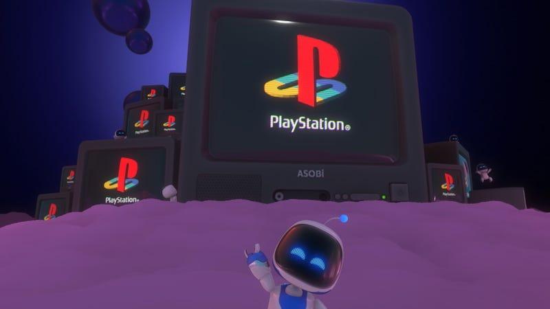 在游戏机大战中,Astro的游戏室是非常有效的PlayStation宣传