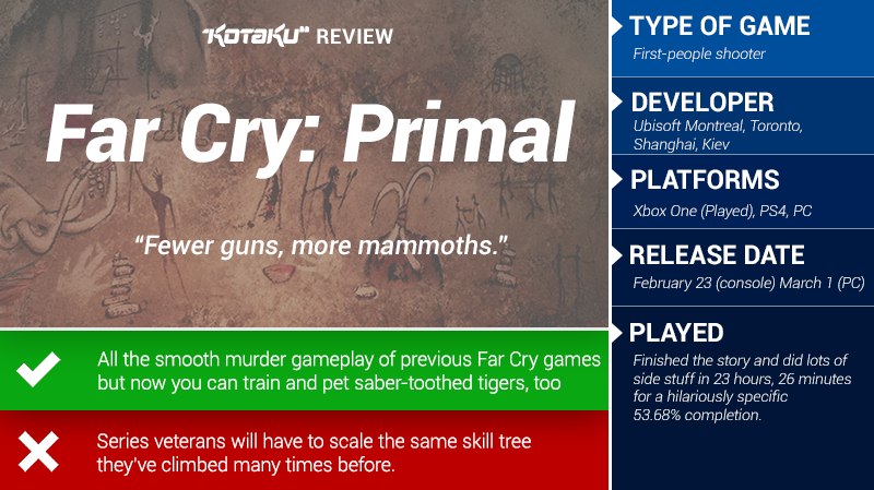 Far Cry Primal The Kotaku Review