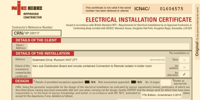 An Eicr Certificate Cost Get Electrical Safety Certificate Today