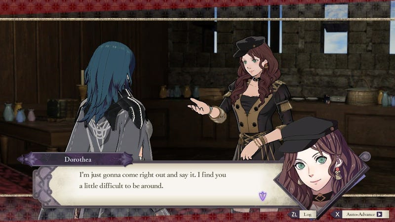 Supporting characters seem to find something strange about Byleth.