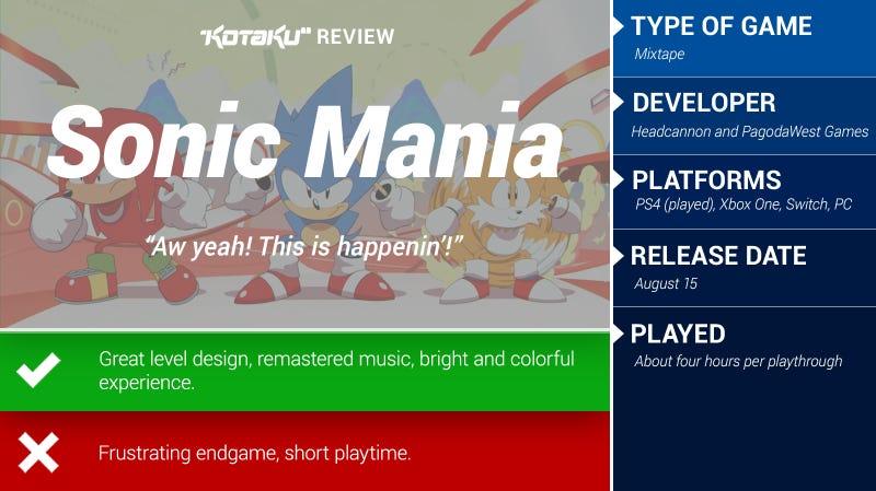 音速狂热:Kotaku评论