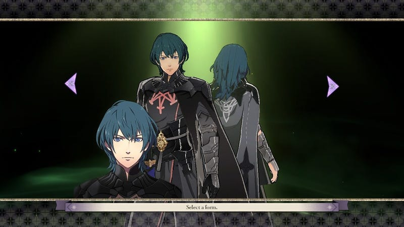 Fire Emblem: The Three Houses players are asked to choose Byleth's form.