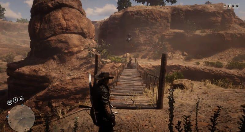 在Red Dead网上有座桥可以把你扔到墨西哥