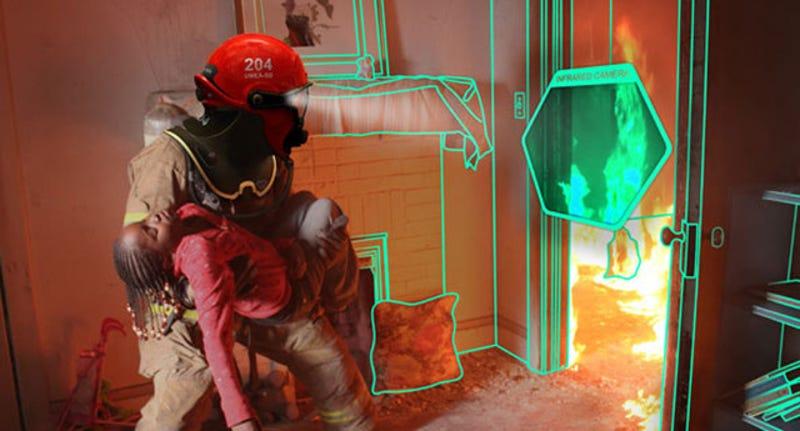 C Thru, un casco para dotar a los bomberos de visión sobrehumana
