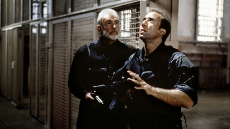 Cage And Connery Bust Into The Rock The One Good Movie Michael Bay Ever Gave Us