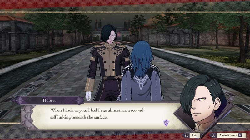 Hubert's initially negative reaction to Byleth's identity felt all too familiar.