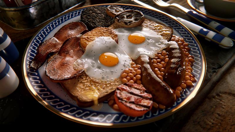 这早餐看起来很美味,但实际上是在梦里做的