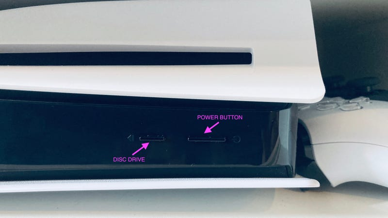 这是PlayStation5的电源按钮