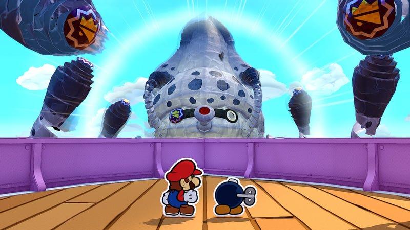 A boy and his Mario, saving the day.