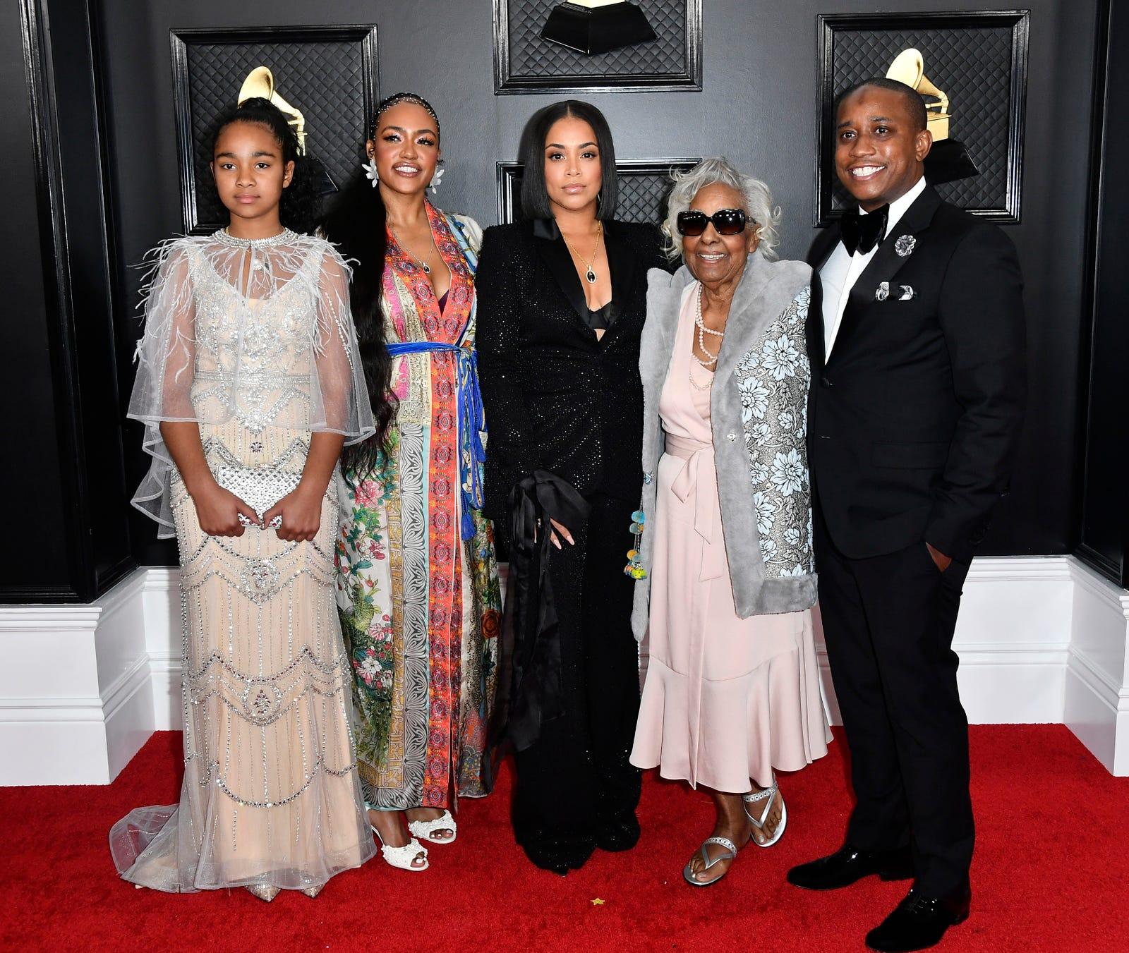 Emani Asghedom, left, Samantha Smith, Lauren London, Margaret Boutte, and Steven Carless