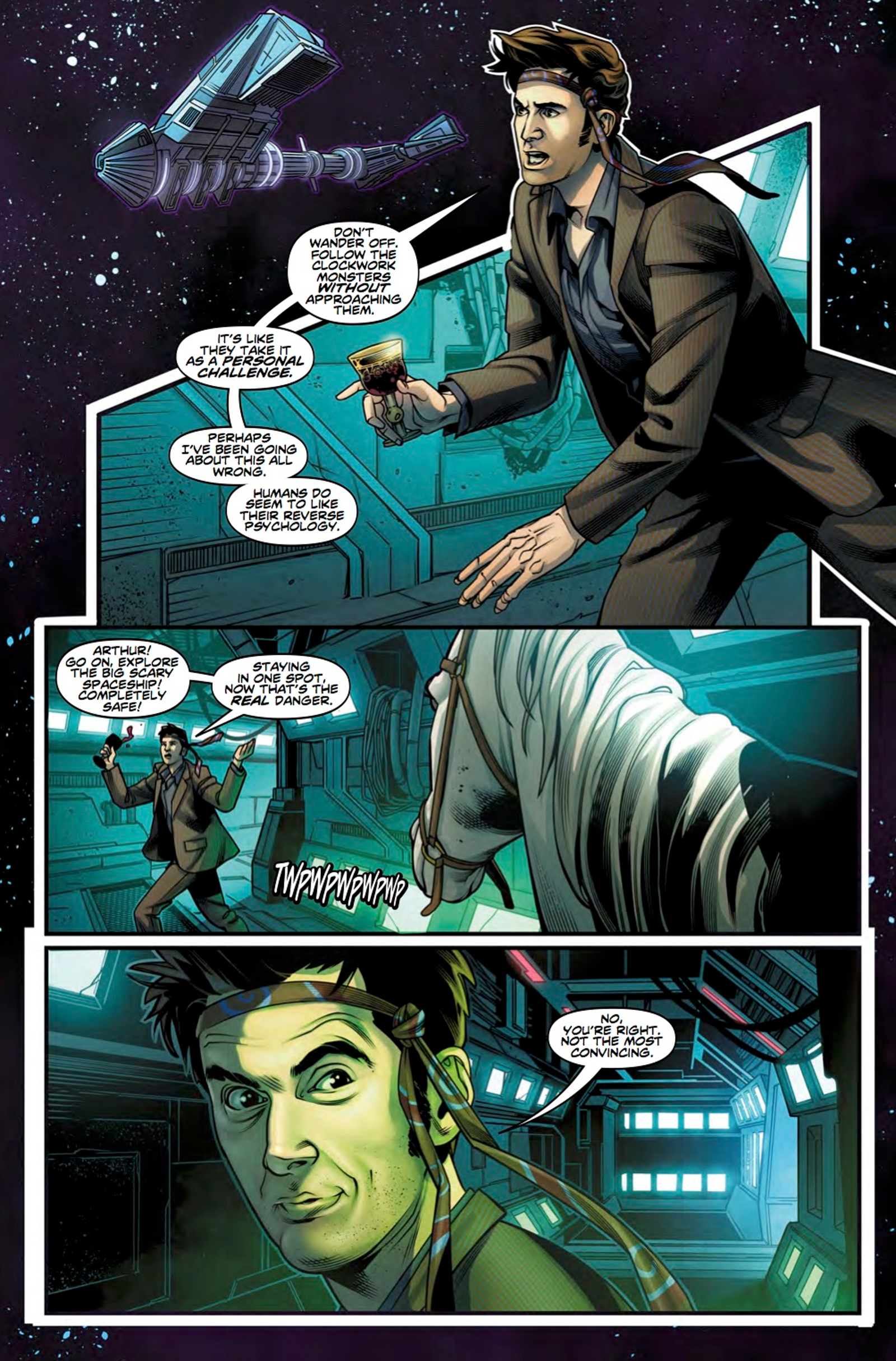 How The Road to the Thirteenth Doctor connects to The Thirteenth Doctor #1. Words by Jody Houser, art by Rachael Stott and Enrica Angiolini
