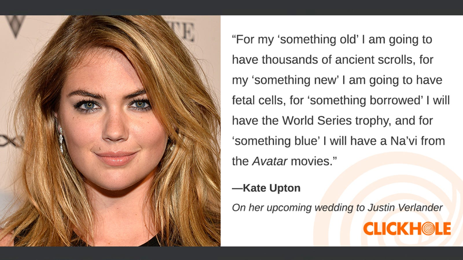 Illustration for article titled Find Out What Kate Upton, Al Roker, J.J. Abrams, And More Have To Say