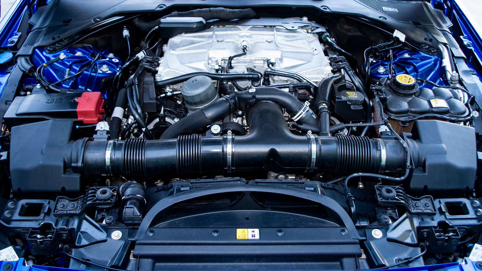 The 5.0-liter supercharged V8 makes a claimed 592 HP and 516 lb-ft of torque