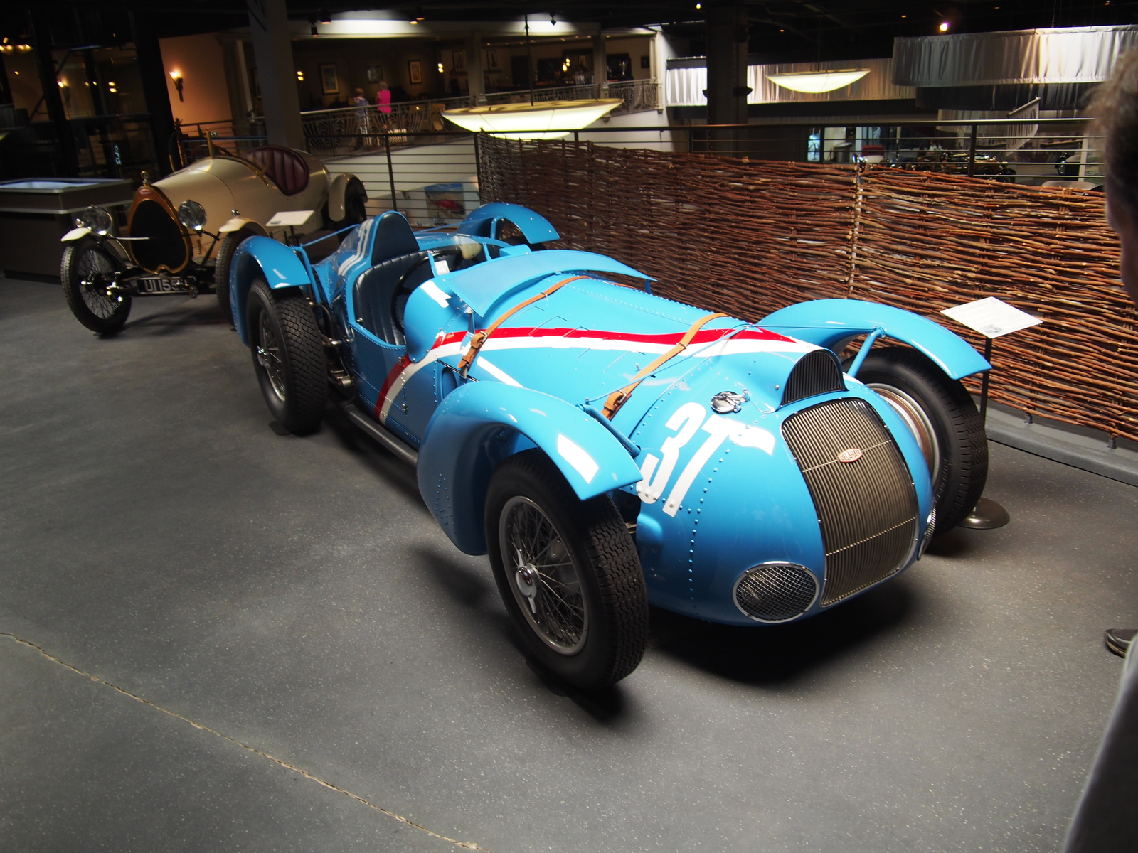 This car was a real treat to see. One of the most important race cars ever built in France, this is the 1937 Delahaye Type 145 V12 Grand Prix that won the Prix Du Million with Rene Dreyfus behind the wheel.