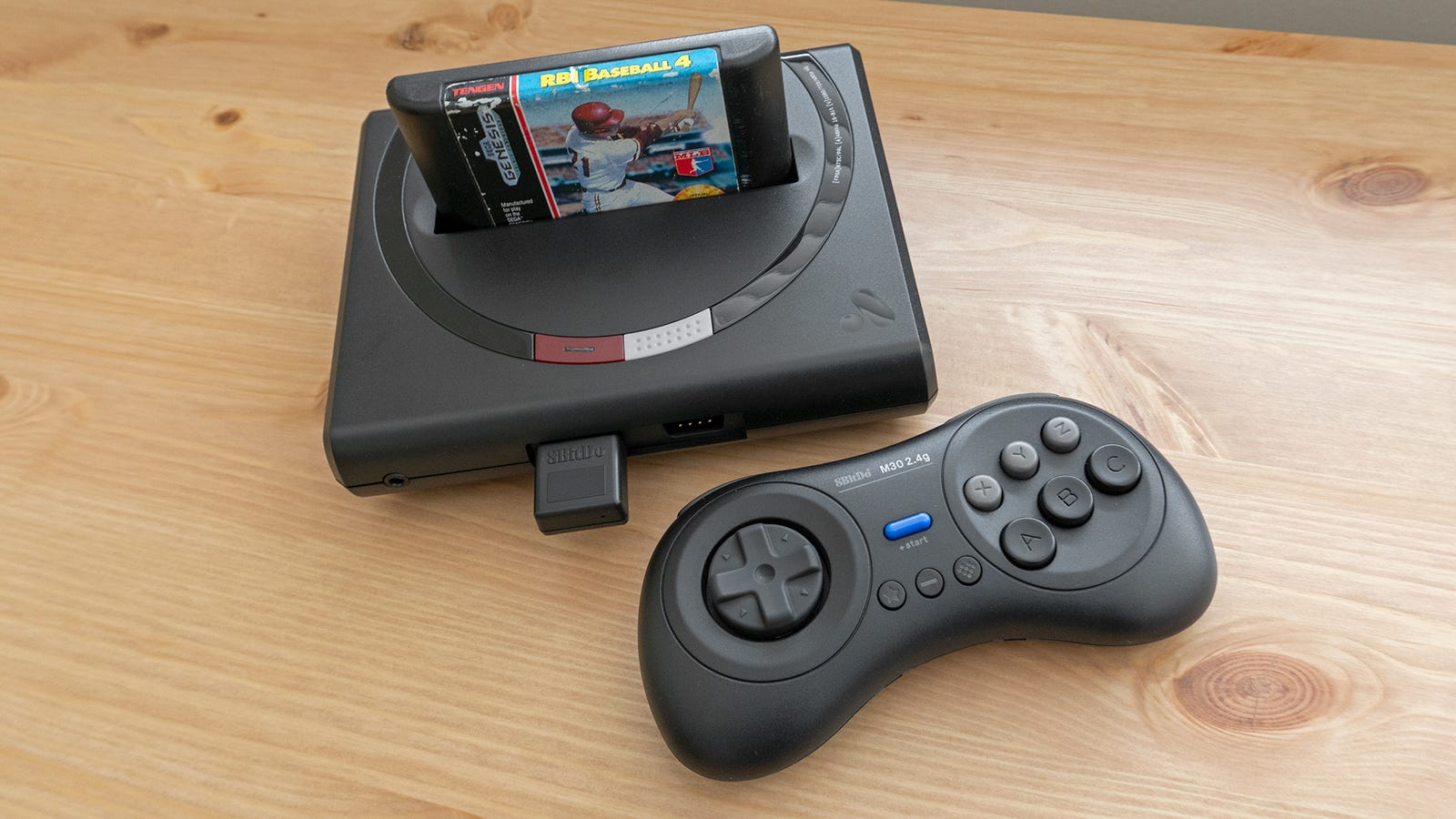 The Mega Sg is available in a black or white finish, but the version we tested best mimics the look of Sega's old hardware.