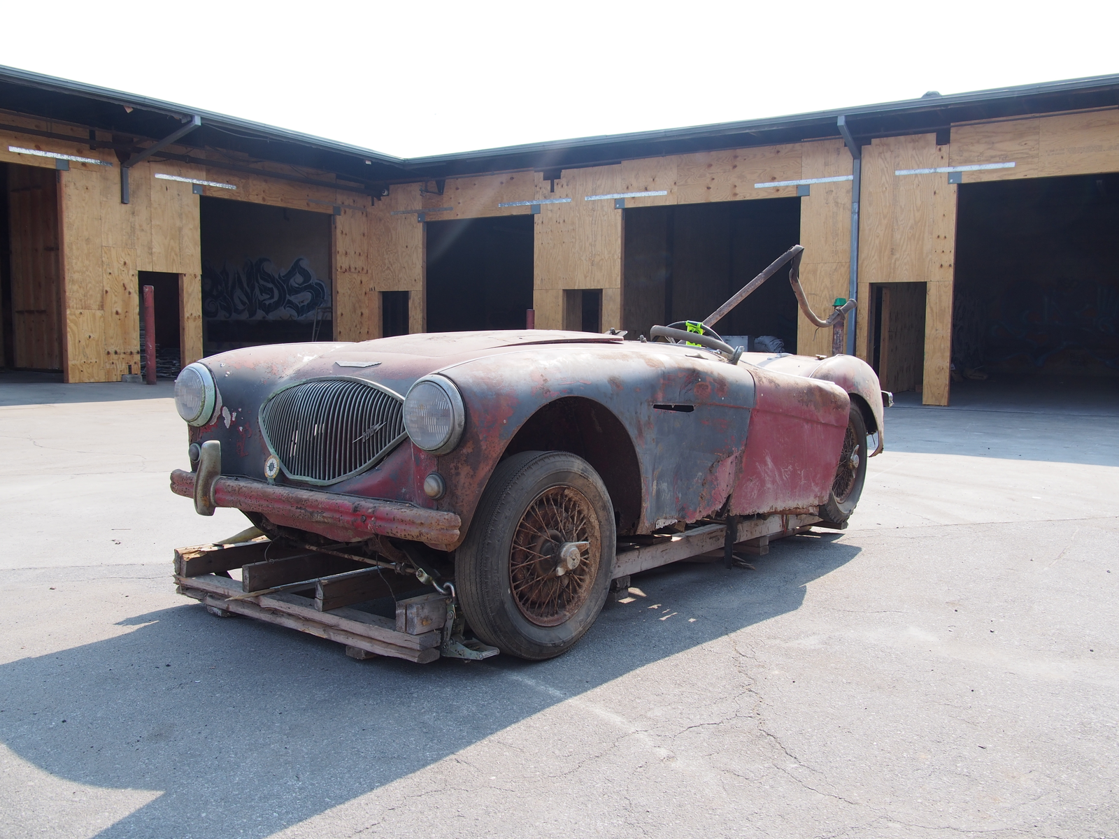 This big Healey is now a beautiful sculpture.