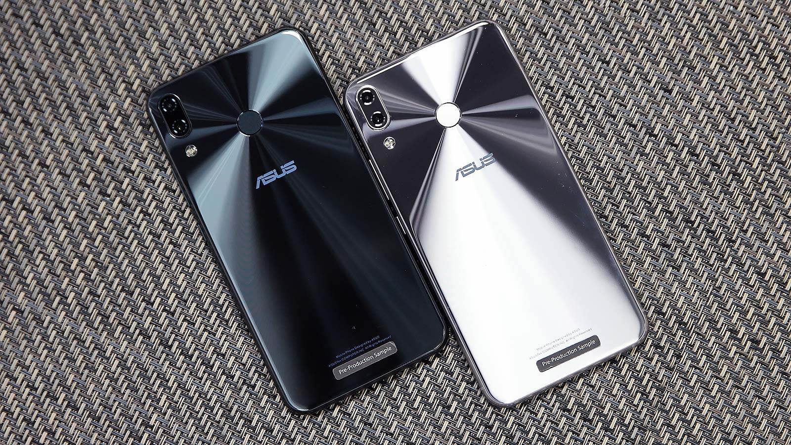 The mid-level Zenfone 5 comes in two colors: a bright silver, or darker, shiny charcoal gray.