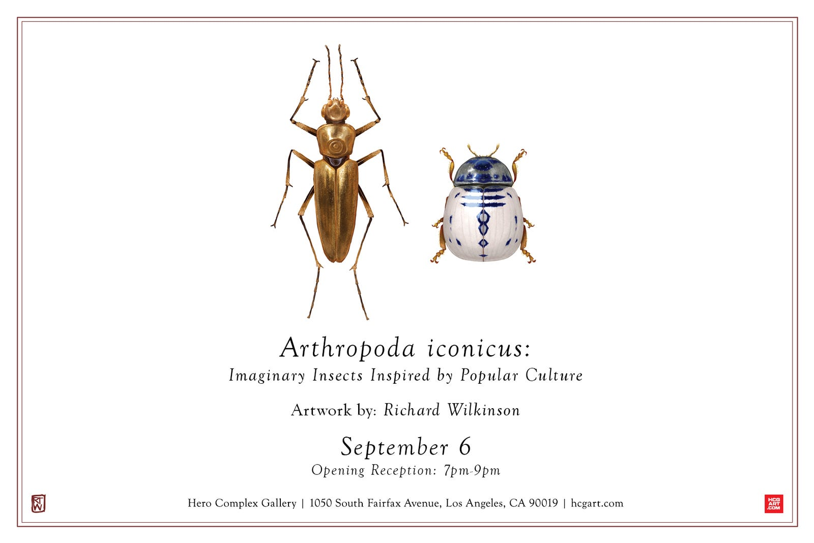 The show card for 'Arthropoda iconicus' featuring two very famous Star Wars characters...as bugs.