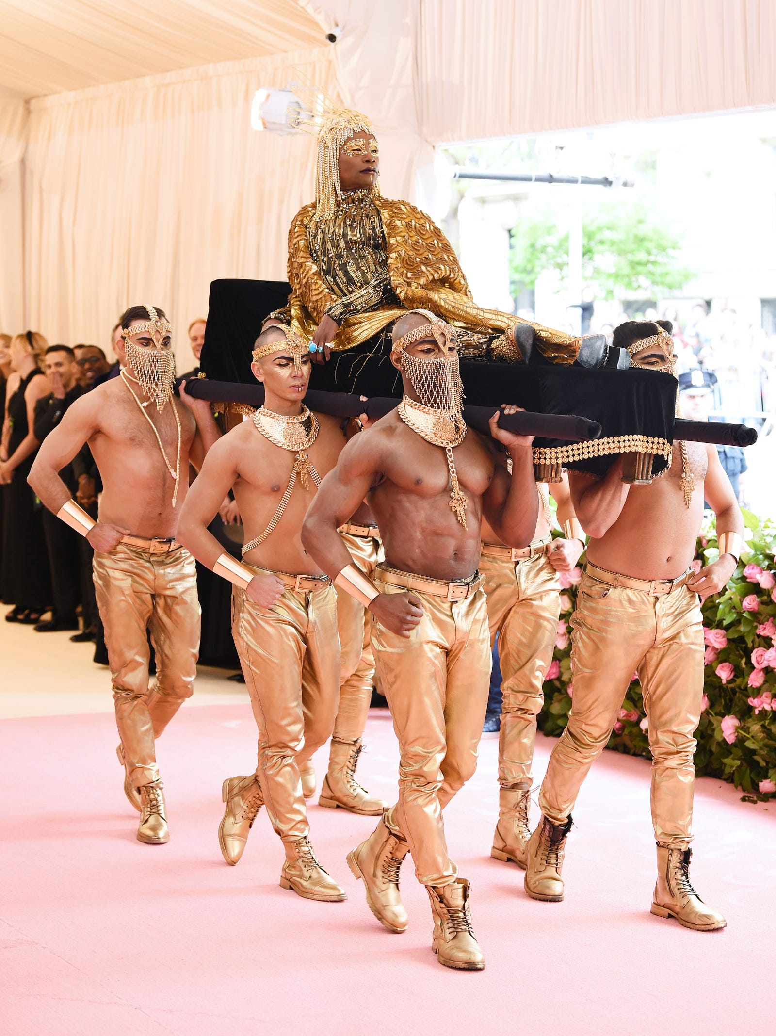 """Billy Porter in The Blonds at the Met Gala 2019, """"Camp: Notes On Fashion"""""""
