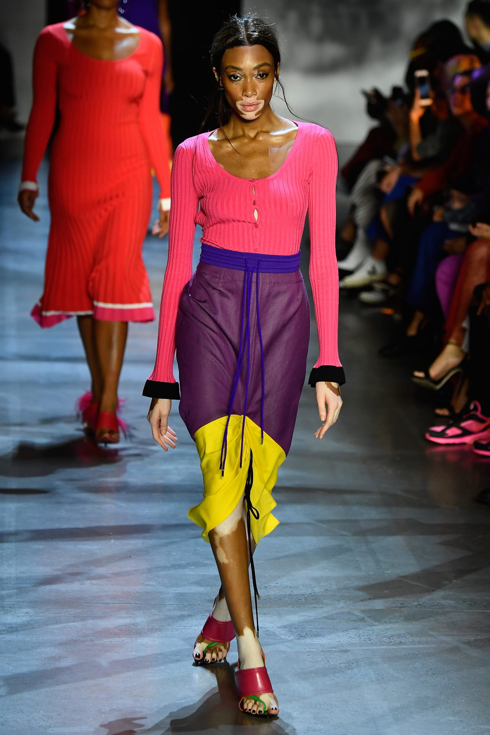 Winnie Harlow walks the runway at Prabal Gurung show during New York Fashion Week: The Shows at Gallery I at Spring Studios on September 9, 2018 in New York City.