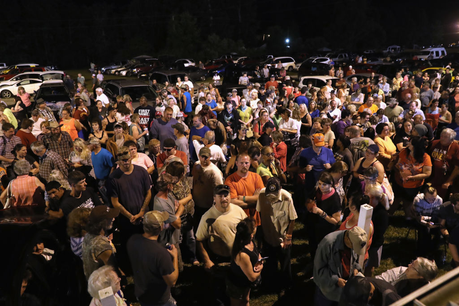 People wait to enter the Remote Area Medical mobile clinic early on July 21, 2017, in Wise, Va. RAM holds the three-day event annually at the Wise County Fairgrounds, one of many free weekend clinics they hold in Appalachia, providing dental, medical and vision services to thousands of uninsured and underinsured people. (John Moore/Getty Images)