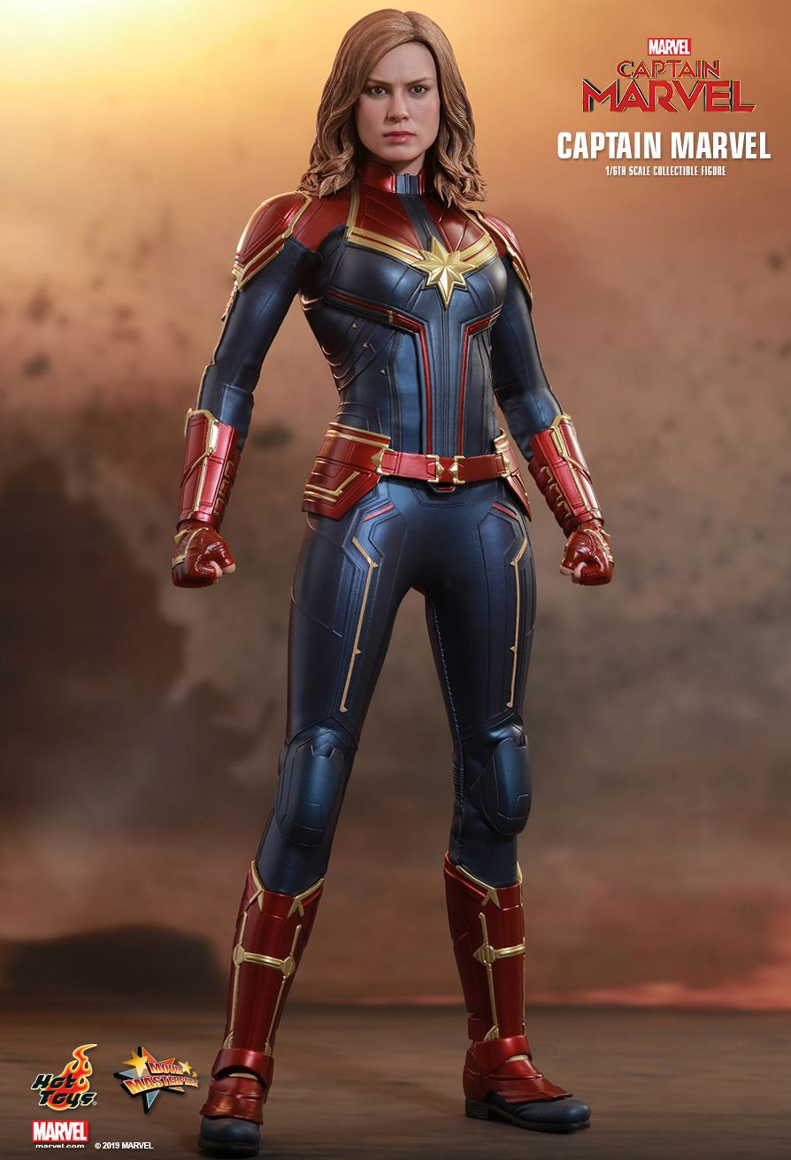 Go higher, further, and faster with these shots of the Hot Toys Captain Marvel in action.