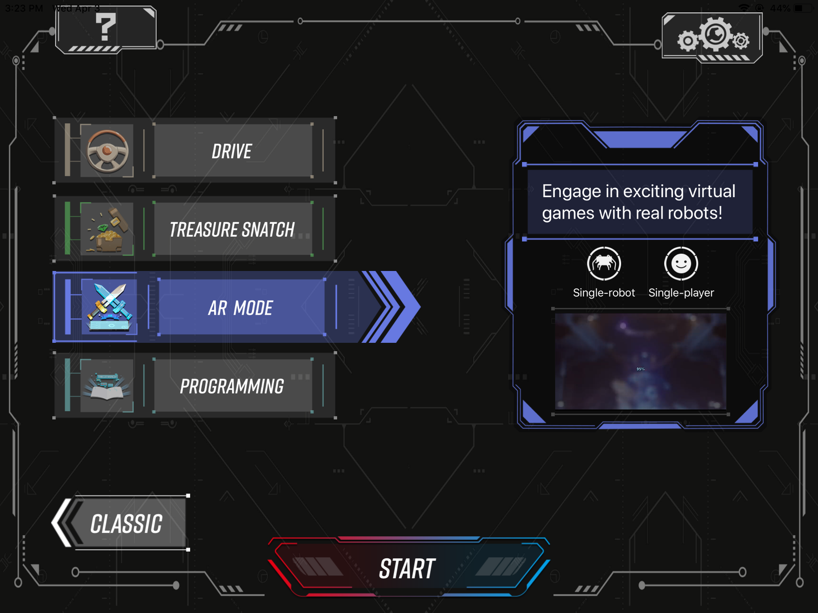 The Augmented Reality mode is the latest addition to the app for players who don't have a second robot to battle.