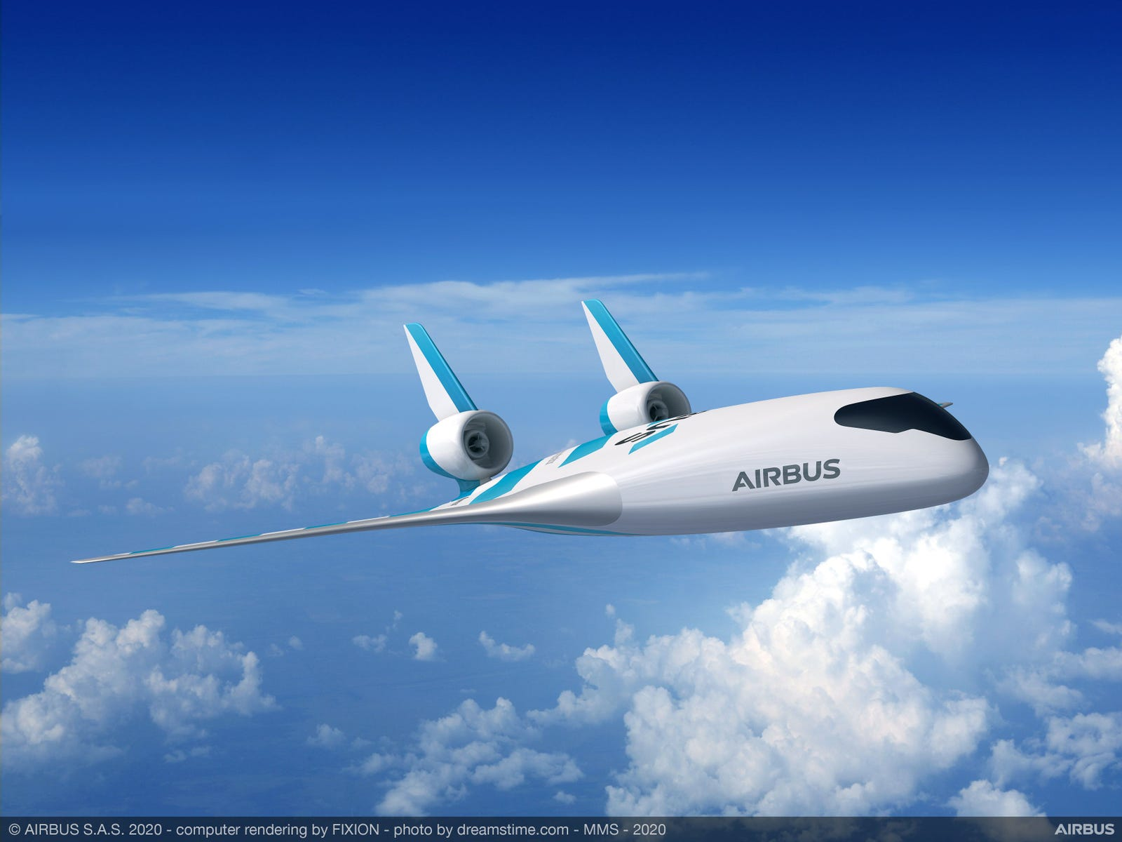 Illustration for article titled New Airbus Blended-Wing Airplane Concept Looks Very Similar to a 1940s Design for a Futuristic Flyer