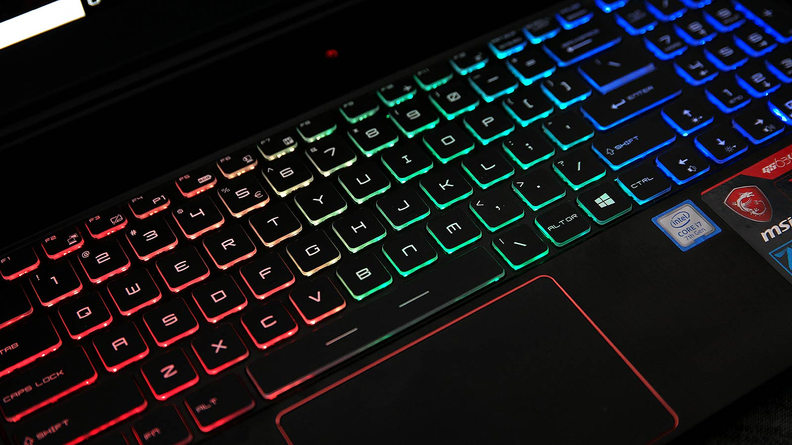 The keys have a decent amount of travel, though they lack the clickiness of the mechanical keyboard found on MSI's GT75VR