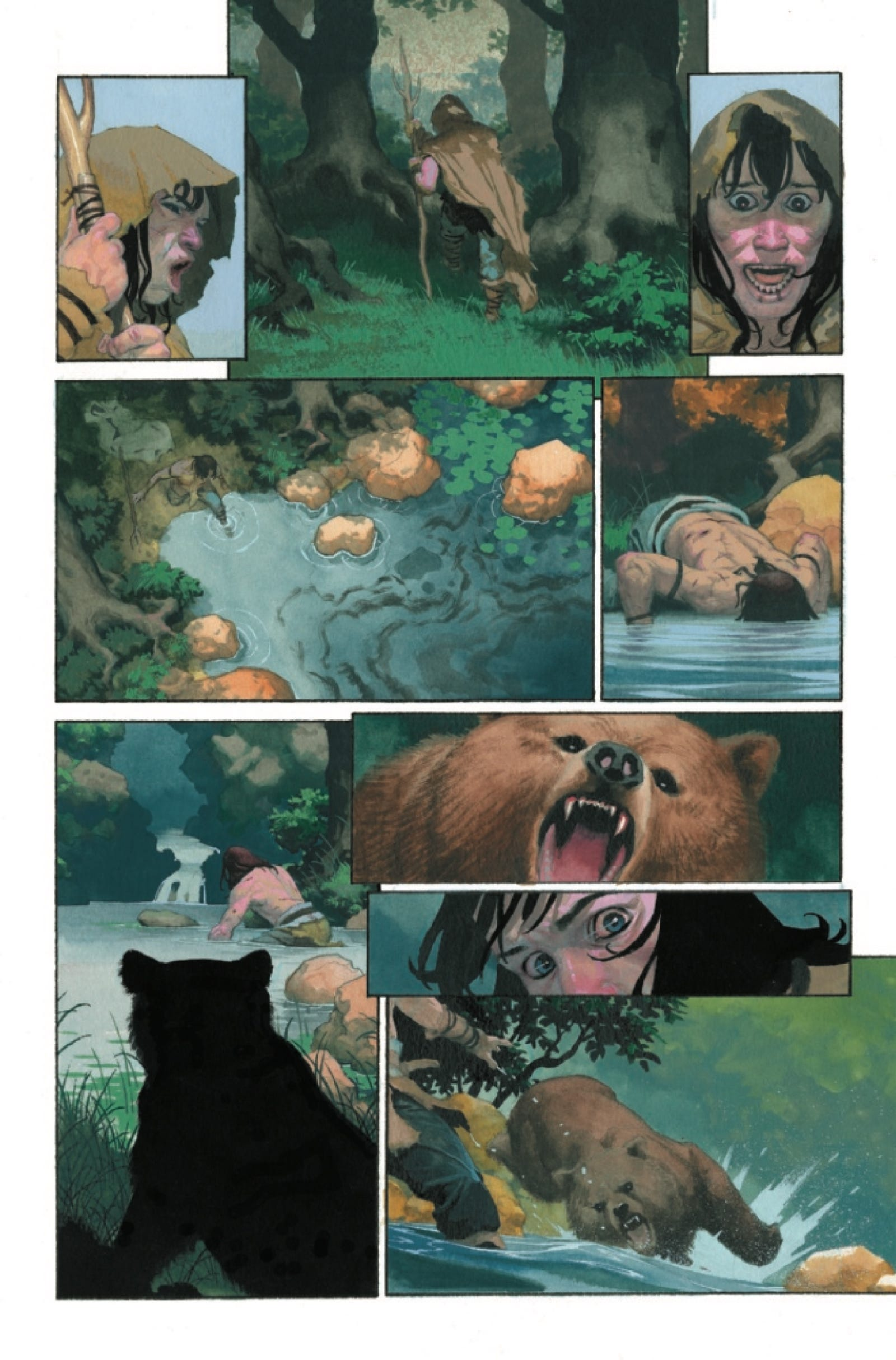 Illustration for article titled Esad Ribić showcases Conan's primal appeal in his fully painted emExodus/em