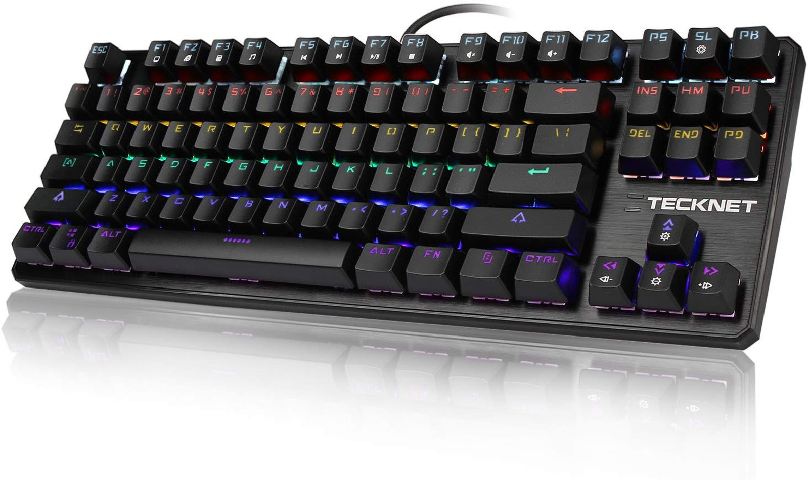 TeckNet Wired Rainbow Backlit Mechanical Keyboard with Use 50% off Promo Code : TeckNetX705 + Click 10% off Coupon at checkout for additional 10% off.