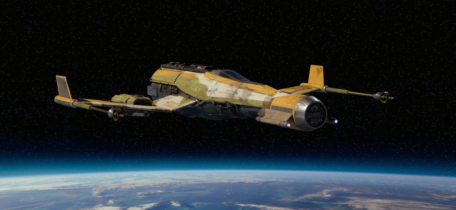 The Fireball from Star Wars Resistance, as recreated for The Rise of Skywalker.