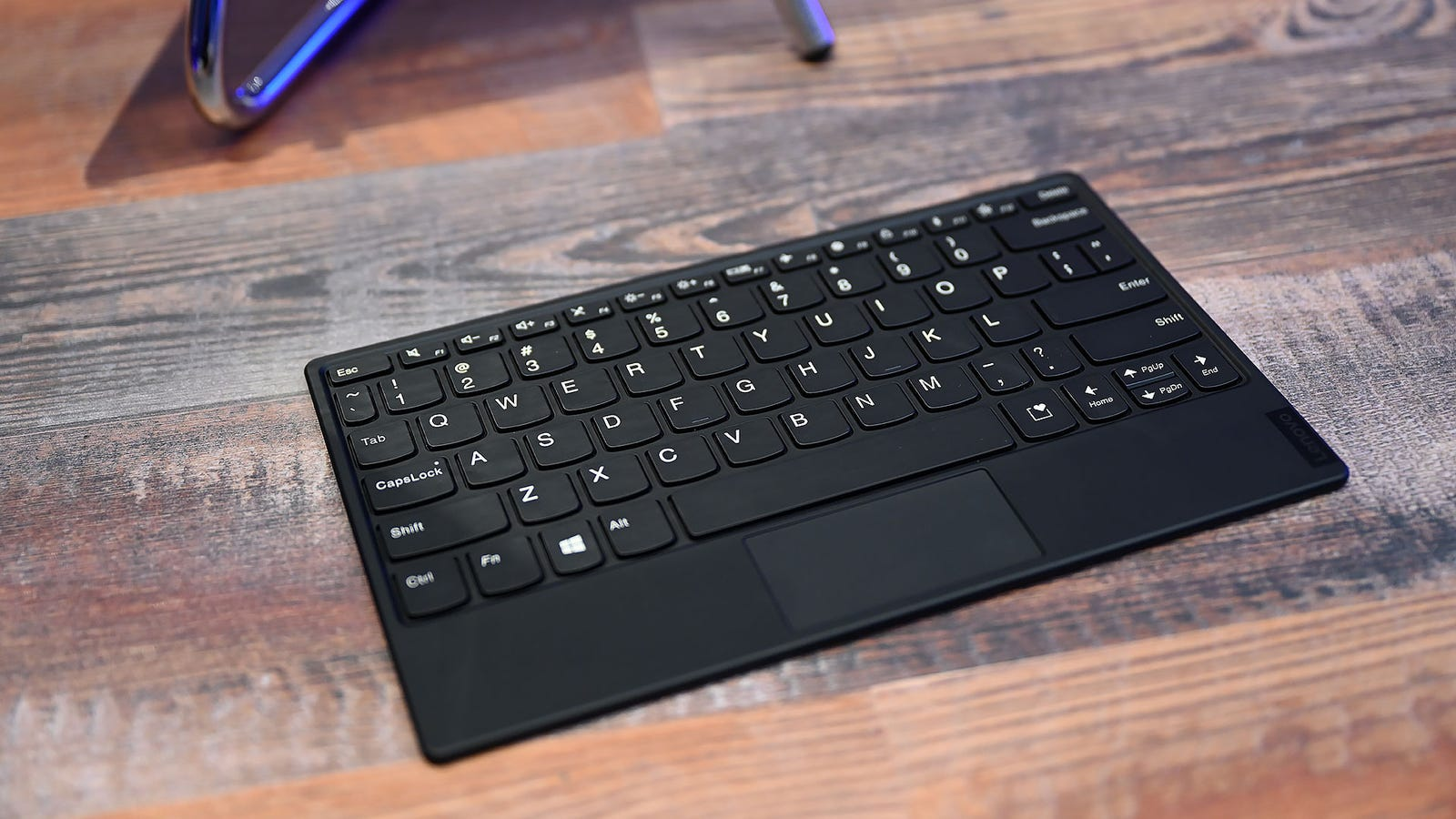 The keys on the magnetic keyboard a bit shallow, though the size of that touchpad will probably be a much bigger annoyance.