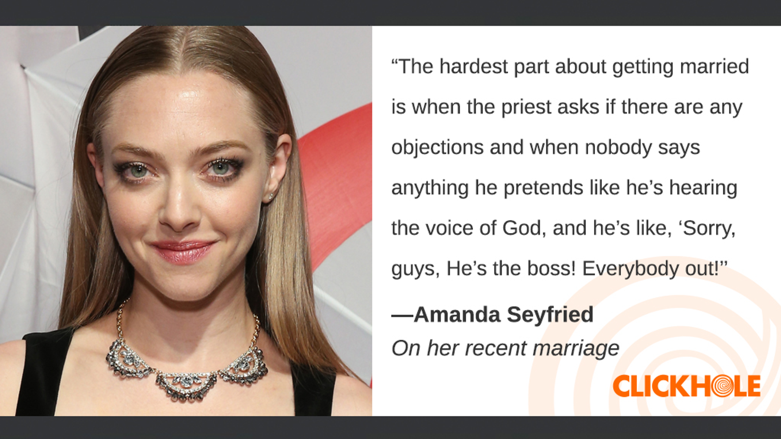 Illustration for article titled Find Out What Amanda Seyfried, Justin Theroux, Jared Leto, And More Have To Say